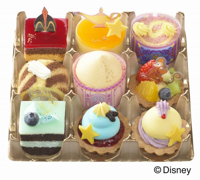 ディズニー映画「アラジン」をモチーフにしたプチケーキセットが銀座コージーコーナーで期間限定販売!