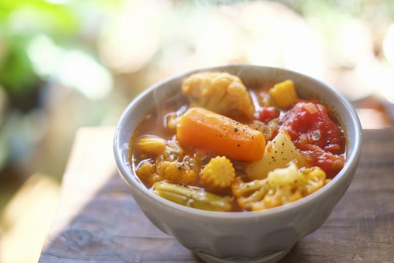 あっさり味の野菜スープが大活躍!