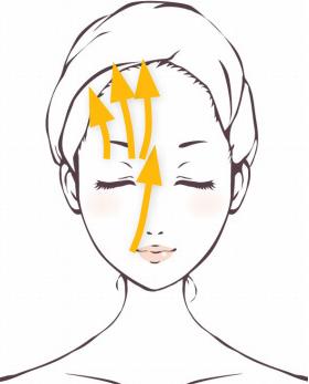 「セルキュア4Tプラス」イオンプラスモードで小鼻から眉頭、眉毛から髪の毛の生え際までケアしていきます。
