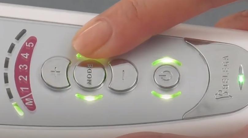 「セルキュア4Tプラス」のマイナスイオンモードを使用する手順